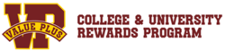 Value Plus : College & University Rewards Program